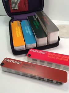 6 Pantone Color Formula Process Guides Coated Uncoated And Matte