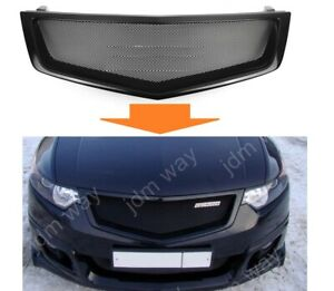 Acura Tsx Front Grille Jdm Style Mesh Grill Honda Accord Viii 2008 2009 2010 V1