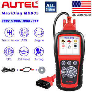 Autel Maxidiag Md805 All System Diagnostic Scanner For Most Cars Abs Airbag Srs