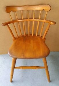 Vintage Maple Desk Dining Dinette Chair Side Chair By S Bent Brothers Bros