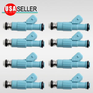 8pc 24lb Fuel Injector For 1985 2004 Chevy Corvette 2000 2005 Ford Excursion