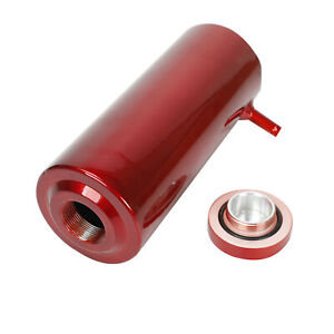 Red Radiator Coolant Aluminum Catch Tank Overflow Reservoir 800ml Universal