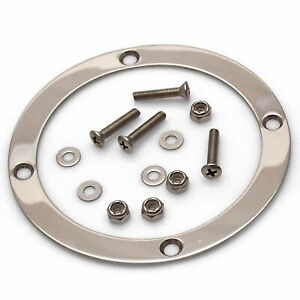 Round Shift Boot Trim Ring With Hardware American Shifter Asctr101 Street Rod
