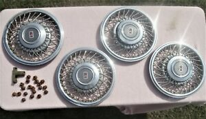 Set Of 4 Oldsmobile Wire Hubcaps Wheel Covers For Cutlass All For