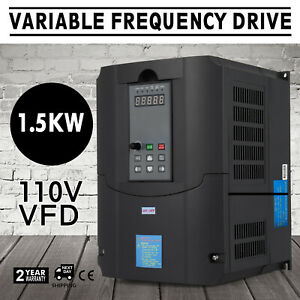 1 5kw 110v Variable Frequency Drive 2hp Vfd Capability Avr Cnc Single Phase