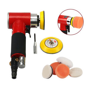 Mini Orbital Air Sander 2 3 Polishing Pad Kit Pneumatic Tool For Polishing Car