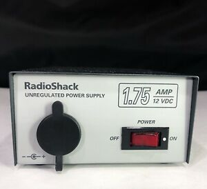 Radio Shack Unregulated Power Supply 1 75 Amp 12 Vdc 60 Hz 22 502 Tested A
