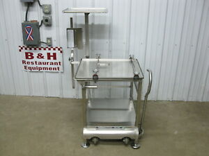 Face To Face Fresh Hobart Globe Bizerba Slicer Deli Buddy Stainless Steel Table