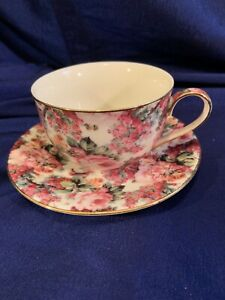 Vintage Chintz Style Floral Tea Cup And Saucer