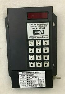 Artisan Controls Model 4950h Timer Display Panel 7 Day Programmable