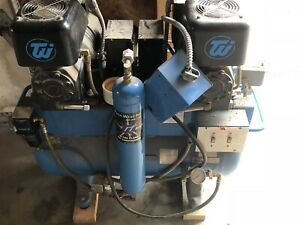 Used Techwest Acl 4d2 Dental Air Compressor For Operatory Pressure
