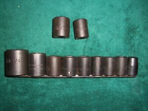 11 Piece Williams Snap On Proto Usa Impact Socket 1 2 Dr 6 Pt 1 1 4 1 2