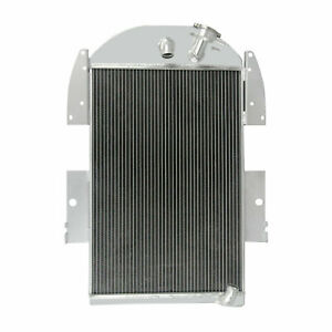 4 Rows Aluminum Radiator For 1934 1936 35 Chevy Pickup Trucks V8 Conversion Cpa