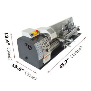 Intbuying 8 x31 Metal Bench Lathe Mini Precision Wood Lathe Turning Machine