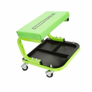 Oemtools 24948 Cushioned Creeper Seat with Tool Tray Rolling Creeper Seat