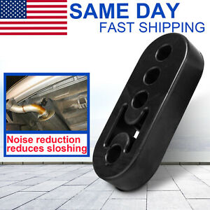 Vehicle Rubber Exhaust 4 Holes Mount Bracket Tail Pipe Hanger Insulator 1