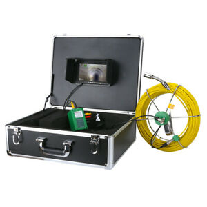 30m Sewer Waterproof Camera 7 Lcd Drain Pipe Pipeline Inspection System Dvr 8gb