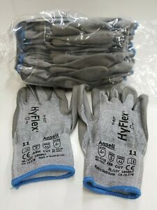 12 Pair Ansell 11 627 Hyflex Cut Resistant Glove Size 11 2xl New