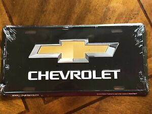 Chevrolet Bowtie Metal License Plate Sign Tag New Embossed Garage
