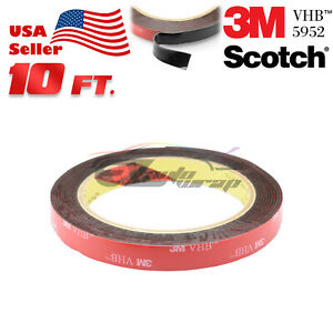 Genuine 3m Vhb 5952 Double Sided Mounting Foam Tape Automotive Car 12mm X 10ft