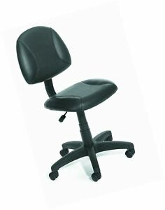 Boss Office Products B305 Posture Task Chair Without Arms In Black No Arms