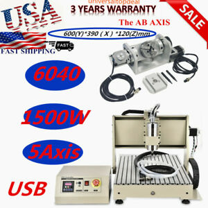 Usb 5 Axis 1500w Cnc 6040t Router Engraver Engraving Mill drilling Machine Best