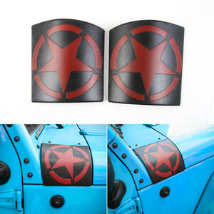 Left Right Abs Cowl Body Armor Side Cowl Cover For 07 17 Jeep Wrangler Jk Pair