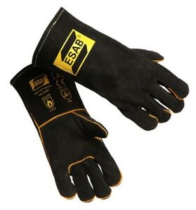 6pcs X Esab Heavy Duty Black Welding Gloves Size 9 L Mig Mag Arc Plasma