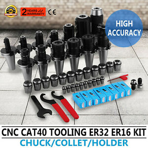 Cat40 Tooling Er32 Er16 Collet End Mill Holder Keyless Drill Chuck Mill 35pcs