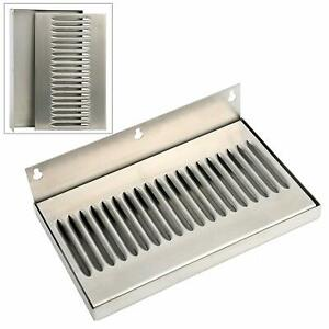 Yaebrew 10 Inch Draft Beer Wall Mount Drip Tray Stainless Steel No Drain