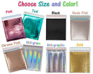 6x10 8 5x12 Metallic Bubble Mailers Glamour Padded Quality Shipping Envelopes