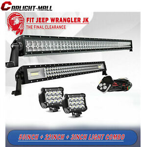 50inch 288w Led Work Light Bar Combo Offroad Truck 18w 4 Spot 120w 48 52