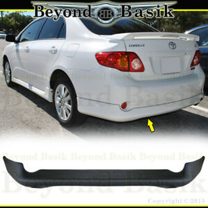 For 2009 2010 Toyota Corolla Factory Style Rear Bumper Body Kit Lip
