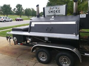 Southern Yankee Bbq Smoker Trailer With 6ft Rotisserie And 2x4 Grill