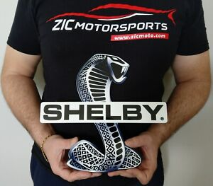 Shelby Snake Sign White 11 X 11