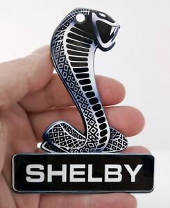 Shelby Snake Sign Black Base 4 X 3 Magnet Non Oe Badge