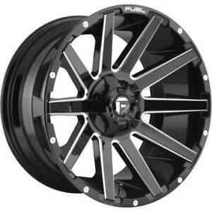 4 New 22 Fuel Contra D615 Wheels 22x10 6x135 6x5 5 18 Black Milled Rims