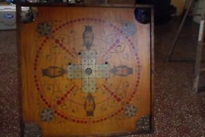 Rare Owl Square Vintage Carrom Game Board Pat Pend 1901 Chicago Beautiful
