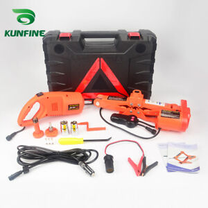 12v 2ton Car Electric Tire Lifting Car Jacks With Impact Wrench And Tire Gauge
