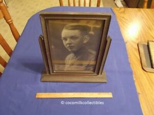 1910 S Vintage Picture Frame Swivel Wood Swing Type 11 By 8 Art Deco Soldier