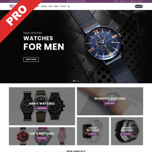 Watches Dropshipping Store Premium Business Website