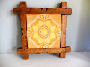 Antique Wessel Tile In Period Frame
