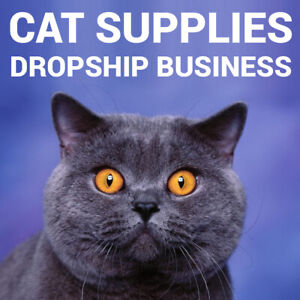 Cat Supplies Dropshipping Store Turnkey Business Website