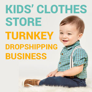Kids Clothes Dropshipping Store Turnkey Business Website
