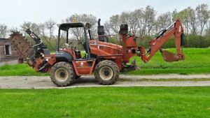 2006 Ditch Witch Rt95 Ride on Trencher Backhoe Plow 6 way Blade 95hp Rops 1943hr