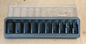 Snap On 310immya 1 2 Flank Drive Metic Shallow Impact Socket Set 10mm 19mm