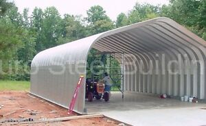 Durospan Steel 25x56x16 Metal Arch Straight Wall Building Shop Open Ends Direct