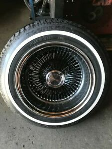 4 P155 80r 13 Thin White Wall Tires Low Rider Lo Los Chevy 64 Impala Ss Chevelle