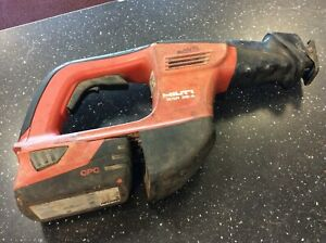 Hilti wsr 36 a Cordless 36v Reciprocating Saw 3 3ah Battery Tested