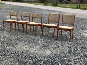 5 Vintage Mid Century Modern Dining Room Table Chairs